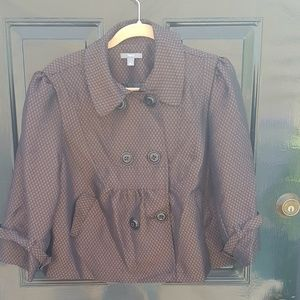 ***5 for $25*** Brown and Black Trapeze Jacket